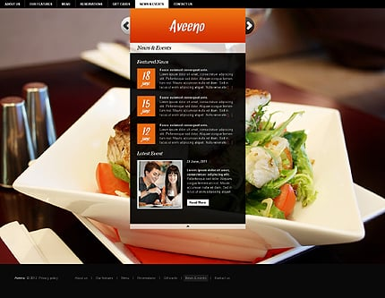 Template 37260 ( News & events Page ) ADOBE Photoshop Screenshot