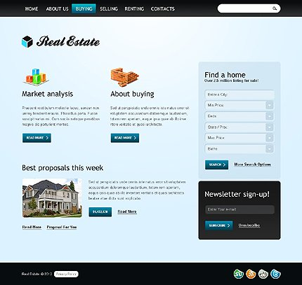 Template 37264 ( Buying Page ) ADOBE Photoshop Screenshot