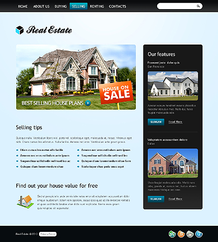 Template 37264 ( Selling Page ) ADOBE Photoshop Screenshot