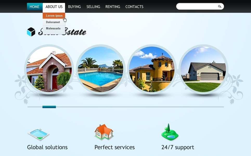 Template Web para Sites de Imobiliária №37264 New Screenshots BIG