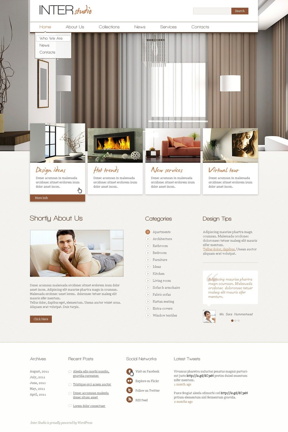 Th me wordpress 37274 pour site de design int rieur for Site de design interieur