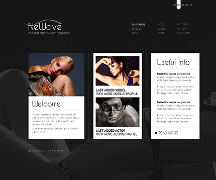 Template 37277 ( Main Page Page ) ADOBE Photoshop Screenshot