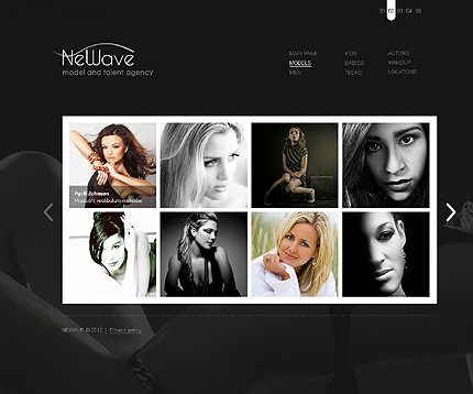 Template 37277 ( Models Page ) ADOBE Photoshop Screenshot