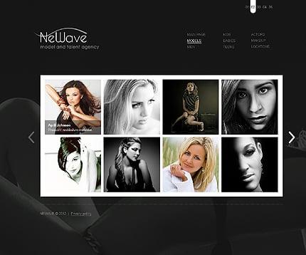 Template 37277 ( Models Page ) ADOBE Photoshop Screenshot