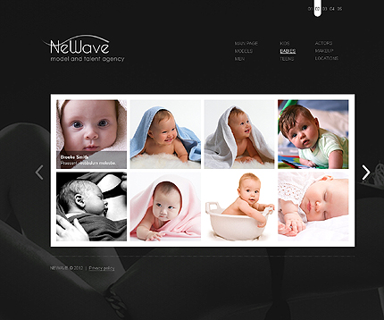 Template 37277 ( Babies Page ) ADOBE Photoshop Screenshot
