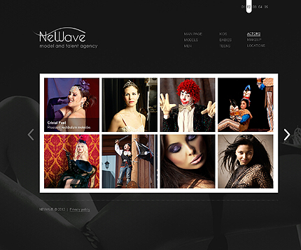 Template 37277 ( Actors Page ) ADOBE Photoshop Screenshot