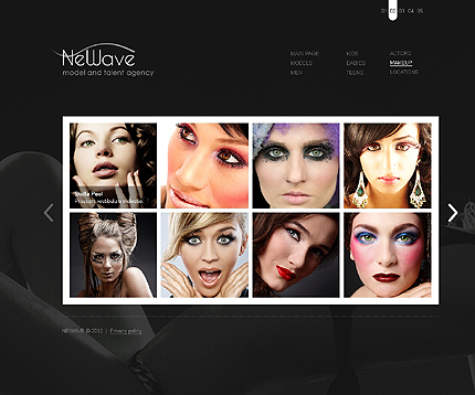 Template 37277 ( Makeup Page ) ADOBE Photoshop Screenshot
