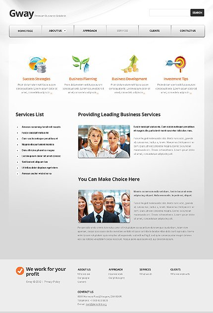 Template 37284 ( Services Page ) ADOBE Photoshop Screenshot