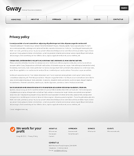 Template 37284 ( Privacy Policy Page ) ADOBE Photoshop Screenshot
