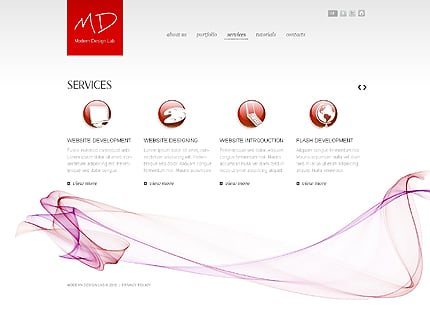 Template 37286 ( Services Page ) ADOBE Photoshop Screenshot