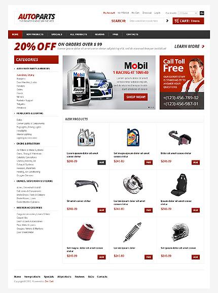 Auto Parts ZenCart Template #37295 by WT - ZenCart Templates