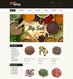 Food & Drink ZenCart  Template 37299