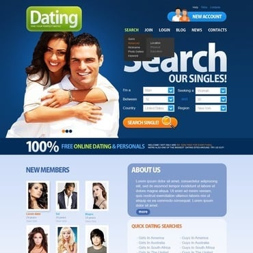Dating website template free
