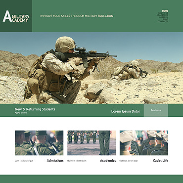 category military free templates online
