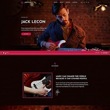 Free Music Website Template For DJ Free Templates Online - Dj website templates