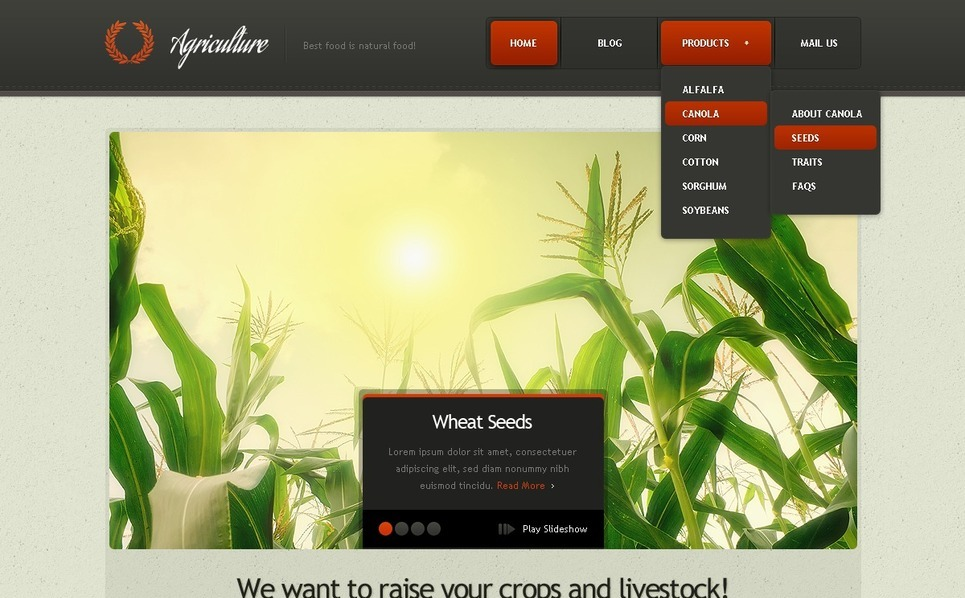 Plantilla Drupal #37304 para Sitio de Agricultura New Screenshots BIG