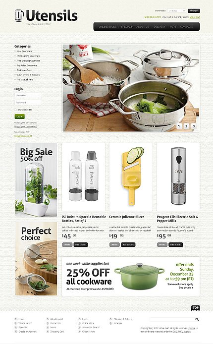 ADOBE Photoshop Template 37316 Home Page Screenshot