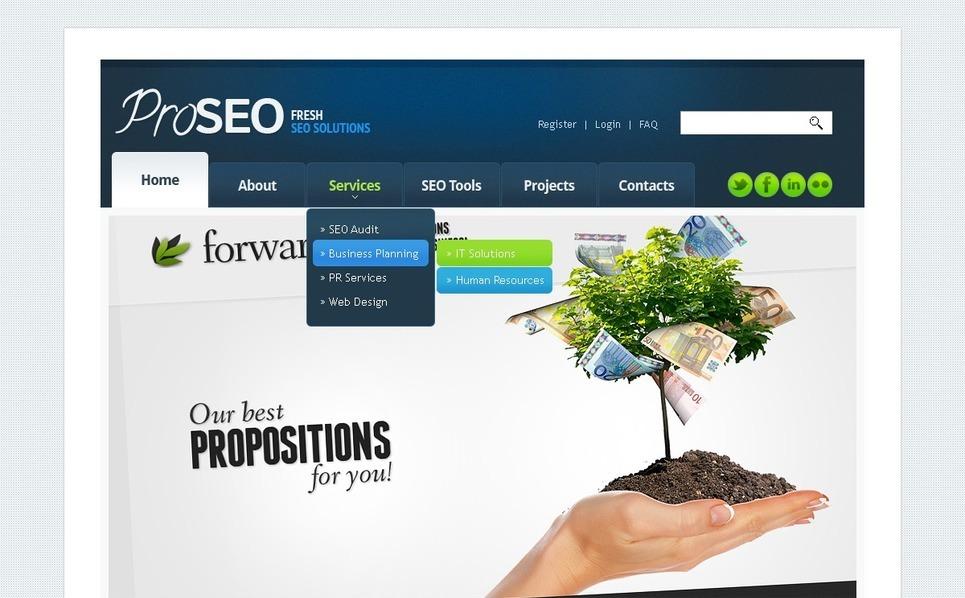 SEO weboldal  Weboldal sablon New Screenshots BIG