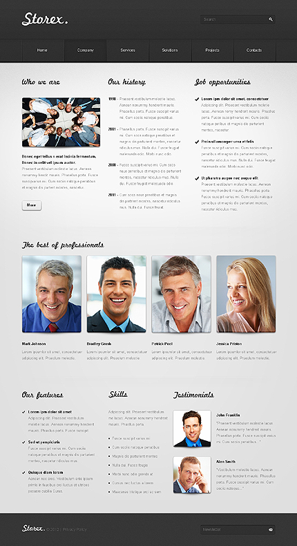 Template 37327 ( Company Page ) ADOBE Photoshop Screenshot