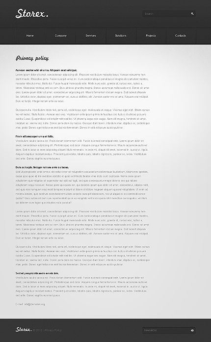 Template 37327 ( Privacy Policy Page ) ADOBE Photoshop Screenshot