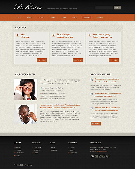 Template 37328 ( Insurance Page ) ADOBE Photoshop Screenshot