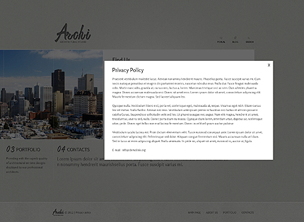 Template 37331 ( Privacy Policy Page ) ADOBE Photoshop Screenshot