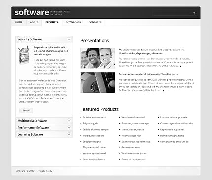 Template 37333 ( Products Page ) ADOBE Photoshop Screenshot