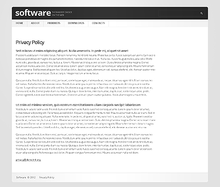 Template 37333 ( Privacy Policy Page ) ADOBE Photoshop Screenshot
