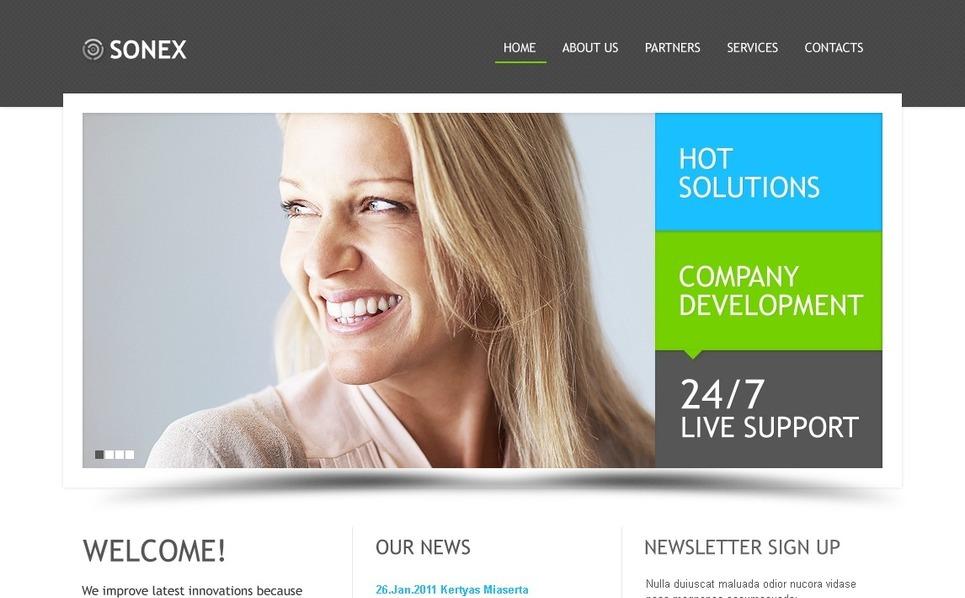 Šablona webových stránek Byznys a služby New Screenshots BIG