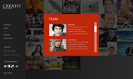 Template 37338 ( Team Page ) ADOBE Photoshop Screenshot
