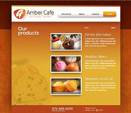 Template 37346 ( Bakery Page ) ADOBE Photoshop Screenshot