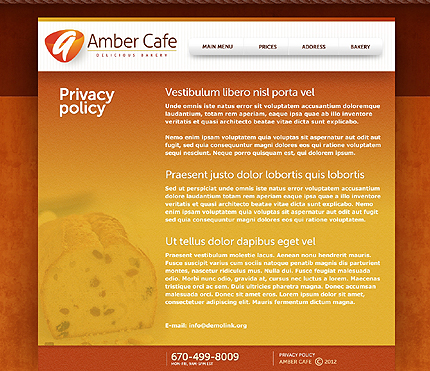 Template 37346 ( Privacy Policy Page ) ADOBE Photoshop Screenshot