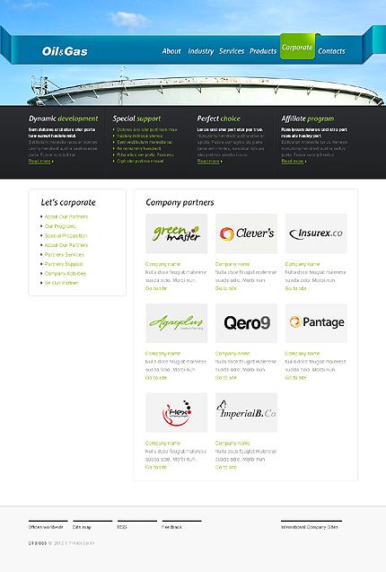 Template 37348 ( Corporate Page ) ADOBE Photoshop Screenshot
