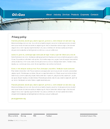 Template 37348 ( Privacy Policy Page ) ADOBE Photoshop Screenshot