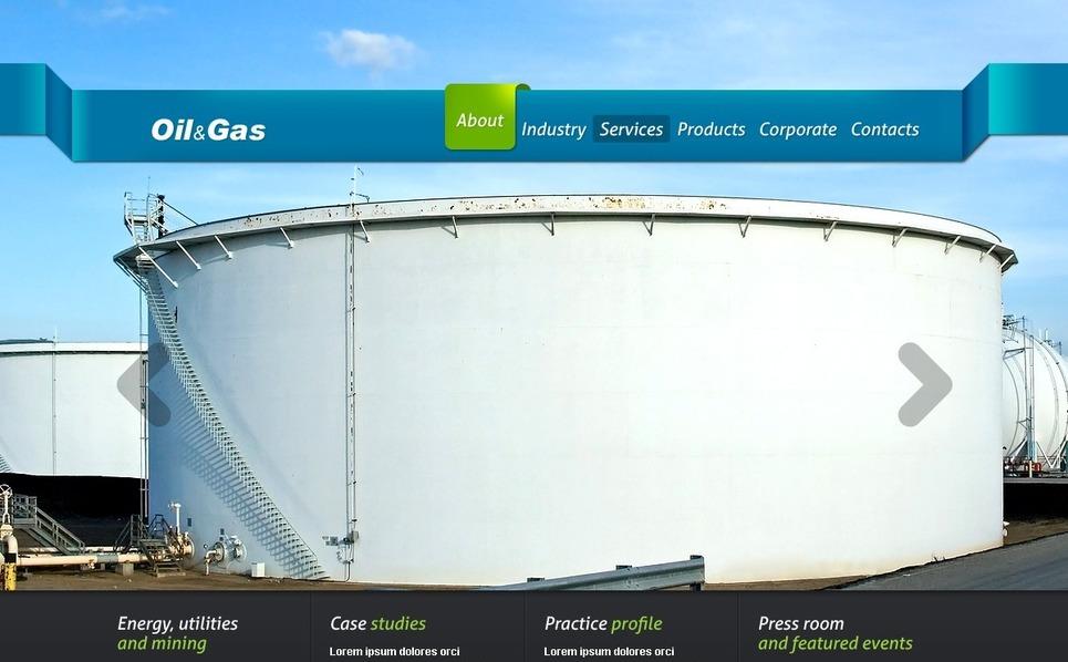 Template Web para Sites de Combustível e Gás №37348 New Screenshots BIG