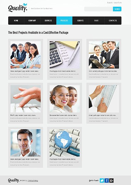 Template 37349 ( Projects Page ) ADOBE Photoshop Screenshot