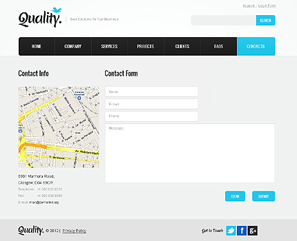 Template 37349 ( Contacts Page ) ADOBE Photoshop Screenshot