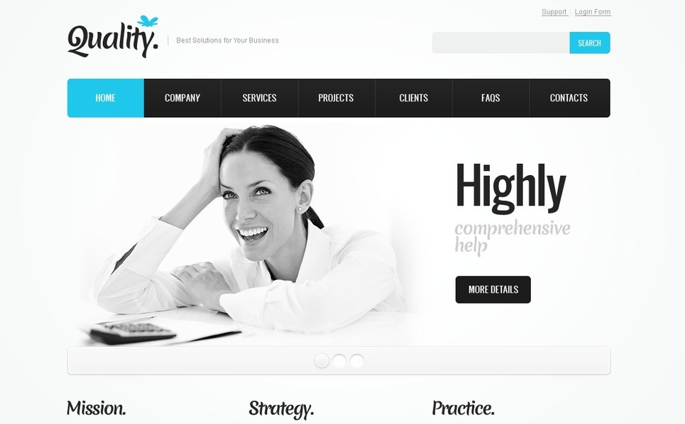 Шаблон сайту на тему бізнес та послуги New Screenshots BIG