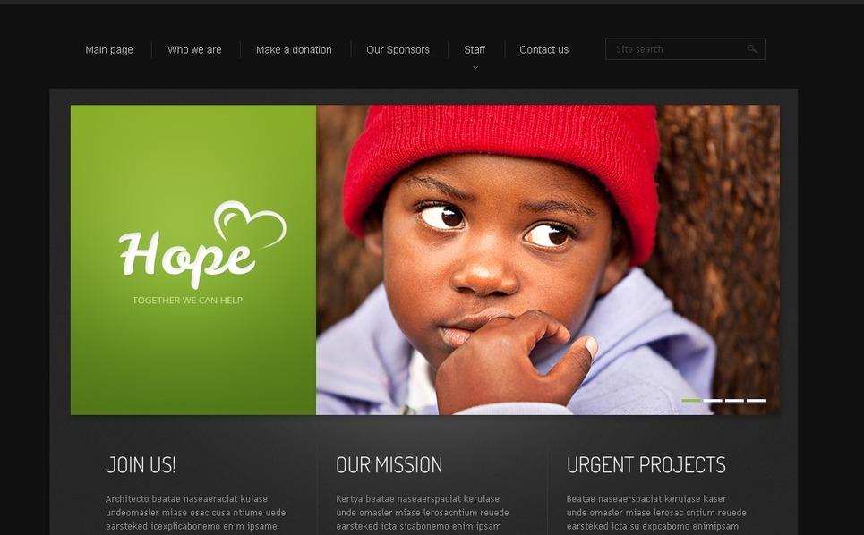 Website Vorlage für Kindercharity  New Screenshots BIG