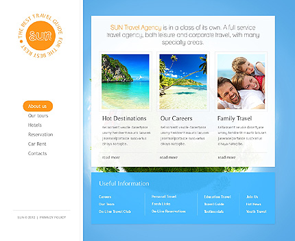 Template 37351 ( About Us Page ) ADOBE Photoshop Screenshot