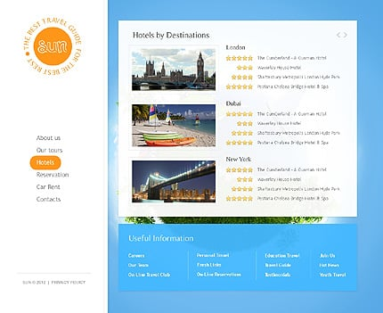 Template 37351 ( Hotels Page ) ADOBE Photoshop Screenshot