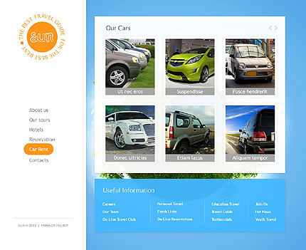 Template 37351 ( Car rental Page ) ADOBE Photoshop Screenshot