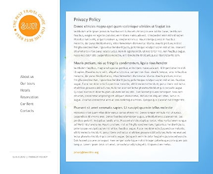 Template 37351 ( Privacy Policy Page ) ADOBE Photoshop Screenshot
