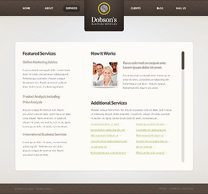 Template 37352 ( Services Page ) ADOBE Photoshop Screenshot