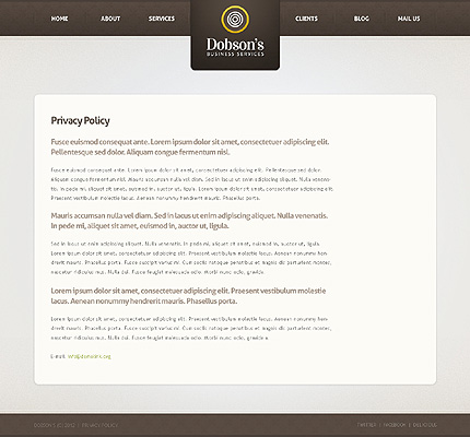 Template 37352 ( Privacy Policy Page ) ADOBE Photoshop Screenshot