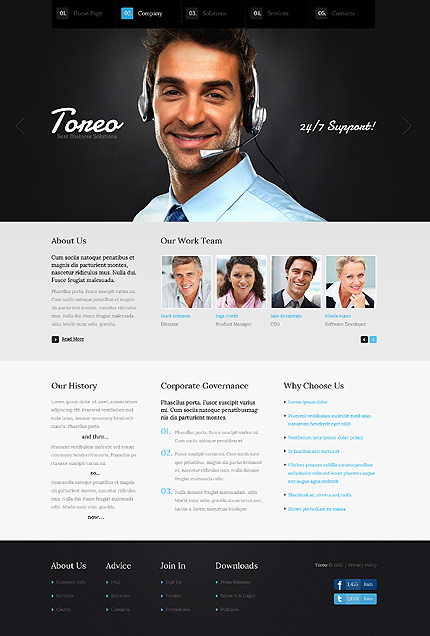 Template 37356 ( Company Page ) ADOBE Photoshop Screenshot