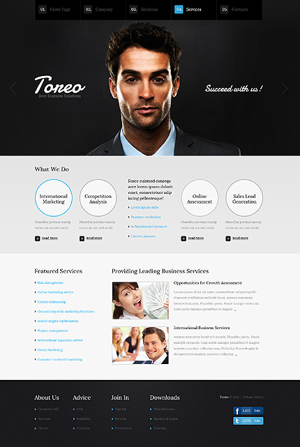 Template 37356 ( Services Page ) ADOBE Photoshop Screenshot