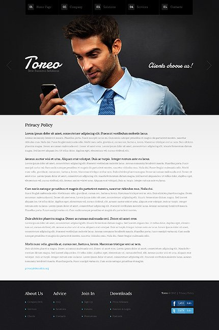 Template 37356 ( Privacy Policy Page ) ADOBE Photoshop Screenshot