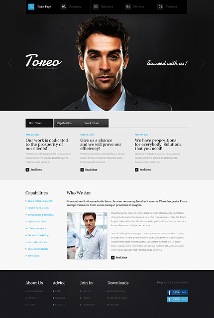 ADOBE Photoshop Template 37356 Home Page Screenshot