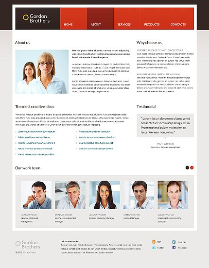 Template 37359 ( About Page ) ADOBE Photoshop Screenshot